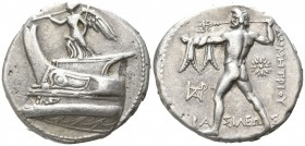 Kings of Macedon. Ephesos. Demetrios I Poliorketes 306-283 BC. Tetradrachm AR