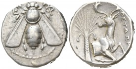 Ionia. Ephesos . ΘΕΥΔΩΡΟΣ, magistrate circa 420-320 BC. Tetradrachm AR