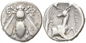 Ionia. Ephesos . ΚΤΗΣΙΟΧΟΣ, magistrate circa 380-370 BC. Tetradrachm AR