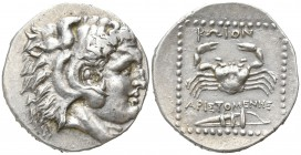 Islands off Caria. Kos. Aristomenes, magistrate. circa 285-258 BC. Tetradrachm AR