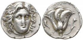 Islands off Caria. Rhodos circa 400-333 BC. Didrachm AR