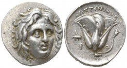 Islands off Caria. Rhodos. ΑΡΙΣΤΟΝΟΜΟΣ, magistrate circa 275-250 BC. Didrachm AR