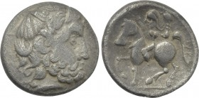 "EASTERN EUROPE. Imitations of Philip II of Macedon (Early 2nd century BC). Tetradrachm. Mint in the Carpathian region. ""Zweigarm"" type."