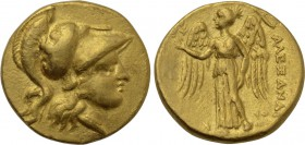 KINGS OF MACEDON. Alexander III 'the Great' (336-323 BC). GOLD Stater. Tyre. Dated RY 23 of Azemilkos (327/6 BC). Lifetime issue.
