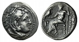 "Kings of Macedon, Alexander III ""the Great"" (336-323 BC). AR Drachm (16mm, 4.24g, 12h). Magnesia ad Maeandrum, c. 325-323. Head of Herakles r., wearin..."