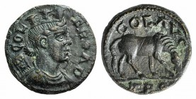 Troas, Alexandria. Pseudo-autonomous issue, c. mid 3rd century AD. Æ (21mm, 5.81g, 1h). Turreted and draped bust of Tyche r., with vexillum over shoul...