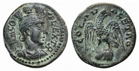 Troas, Alexandria. Pseudo-autonomous issue, c. mid 3rd century AD. Æ (22mm, 6.90g, 6h). Turreted and draped bust of Tyche r., with vexillum over shoul...