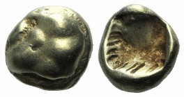 Ionia, Uncertain, c. 650-600 BC. EL Myshemihekte – Twenty-fourth Stater (5mm, 0.58g). Floral design. R/ Incuse punch. Cf. SNG Kayhan 688; SNG von Aulo...