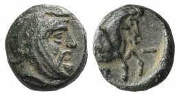 Ionia, Achaemenid Period. Spithridates, Satrap of Sparda (Lydia and Ionia, c. 334 BC). Æ (9mm, 1.20g, 12h). Head of satrap r., wearing Persian headdre...