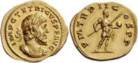 Tetricus I, 271 – 274. Aureus, Cologne or Treveri 272, AV 4.79 g. IMP C TETRICVS P F AVG Laureate and cuirassed bust r., with drapery on far shoulder....