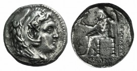 Kings of Macedon, Philip III Arrhidaios (323-317 BC). AR Tetradrachm (26mm, 17.01g, 1h). In the name of Alexander III. Babylon, c. 323-318/7 BC. Head ...