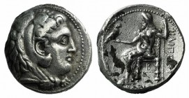 Kings of Macedon, Philip III Arrhidaios (323-317 BC). AR Tetradrachm (26mm, 16.6g, 6h). Babylon, c. 323-318/7 BC. Head of Herakles r., wearing lion sk...