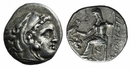 Kings of Macedon, Antigonos I Monophthalmos (320-301 BC). AR Drachm (16mm, 4.17g, 3h). In the name and types of Alexander III. Lampsakos, c. 310-301 B...