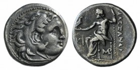 Kings of Macedon, Antigonos I Monophthalmos (320-301 BC). AR Drachm (16mm, 4.10g, 6h). In the name and types of Alexander III. Lampsakos, c. 310-301 B...