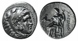 Kings of Macedon, Antigonos I Monophthalmos (320-301 BC). AR Drachm (16mm, 4.09g, 12h). In the name and types of Alexander III. Sardes, c. 318-315 BC....