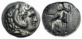 Kings of Macedon, Antigonos I Monophthalmos (320-301 BC). AR Tetradrachm (27mm, 16.68g, 11h). Babylon, c. 315-311 BC. Head of Herakles r., wearing lio...