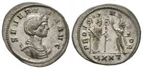 Severina (Augusta, 270-275), Antoninianus, Ticinum, 274-5, 4.04g, 23mm. Diademed and draped bust right, set on crescent / Fides standing right, holdin...