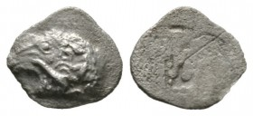 Cyprus, Salamis, Euelthon (c. 530/15-480), Hemiobol, 0.37g, 8mm. Head of ram left / Blank. Cf. SNG Cop. 33 (Obol); cf. BMC 8-9 (same). Porous, About V...