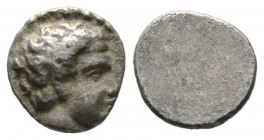 Cyprus, Salamis, Evagoras I (c. 411-374/3 BC), 1/12 Stater, 0.84g, 8mm. Bare head of male right / Blank. SNG Cop. 42; BMC 45. Very Fine