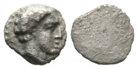 Cyprus, Salamis, Evagoras I (c. 411-374/3 BC), 1/12 Stater, 0.61g, 8mm. Bare head of male right / Blank. SNG Cop. 42; BMC 45. Very Fine