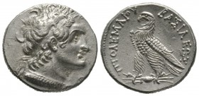 Ptolemaic Kings of Egypt, temp. Ptolemy V-VI (205-145 BC), Tetradrachm, Alexandreia, 13.78g, 27mm. Diademed head of Ptolemy I right, wearing aegis aro...