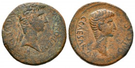 Augustus with Caius Caesar (27 BC-AD 14), Cyprus, Paphos, As, AD 1. Laureate head of Augustus right / Bare head of Caius Caesar right. RPC I 3908; Ama...