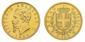 55ada2f672 Lot 1597 Regno d'Italia Vittorio Emanuele II (1861-1878) 100 Lire 1864 -  Zecca: Torino - Diritto: effigie del Re a sinistra - Rovescio: stemma di  casa ...