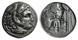 "Kings of Macedon, Alexander III ""the Great"" (336-323 BC). AR Drachm (17mm, 4.11g, 6h). Sardes, c. 323-319 BC. Head of Herakles r., wearing lion skin. ..."