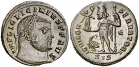 (313-315 d.C.). Licinio padre. Siscia. Follis. (Spink 15211) (Co. 67) (RIC. 8). 3,41 g. EBC.