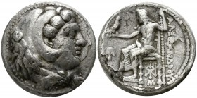 "Kings of Macedon. Babylon. Alexander III ""the Great"" 336-323 BC. Struck under Stamenes or Archon, circa 324/3 BC.. Tetradrachm AR"
