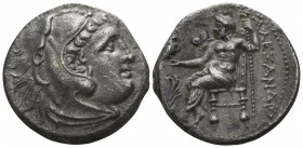 "Kings of Macedon. Uncertain mint in Greece or Macedon. Alexander III ""the Great"" 336-323 BC, (struck circa 310-275 BC).. Drachm AR"