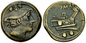 Anonymous AE Sextans, c. 215-212 BC 