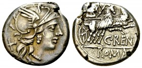 C. Renius AR Denarius, 138 BC 