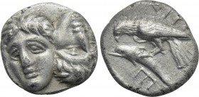 MOESIA. Istros. Drachm (4th century BC). Possible contemporary imitation.