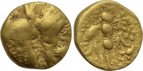 "CENTRAL EUROPE. Boii. GOLD 1/8 Stater (2nd-1st centuries BC). ""Athena Alkis"" type."
