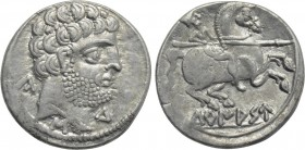 SPAIN. Turiasu. Denarius (Late 2nd-early 1st century BC).