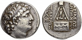 SELEUCID KINGDOM. Antiochus VIII, 121-96. Tetradrachm 112/96, Tarsus. Obv. Head with diadem to r. Rev. (B)AΣIΛEΩΣ / ANTIOXOY - (E)ΠIΦANOYΣ Altar with ...