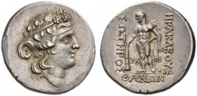 ISLANDS off THRACE, Thasos. Circa 168/7-148 BC. Tetradrachm (Silver, 29mm, 16.95 g 10). Head of the young Dionysos to right, wearing ivy wreath. Rev. ...