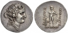 ISLANDS off THRACE, Thasos. Circa 150-140 BC. Tetradrachm (Silver, 35.5mm, 16.99 g 12). Head of youthful Dionysos to right, wearing ivy wreath. Rev. Η...