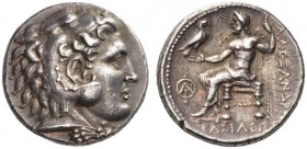 Kings of Macedon. Alexander III 'the Great', 336-323 BC. Tetradrachm (Silver, 25mm, 17.03 g 2), struck under Demetrios Poliorketes, Tarsos (Newell) or...