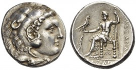 KINGS of MACEDON. Alexander III 'the Great', 336-323 BC. Tetradrachm (Silver, 26mm, 17.07 g 2), Sikyon, c. 300-c. 290. Head of Herakles in lion skin h...