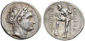 KINGS of MACEDON. Demetrios I Poliorketes, 306-283 BC. Tetradrachm (Silver, 29mm, 17.21 g 10), Amphipolis, c. 290-289. Diademed head of Demetrios to r...