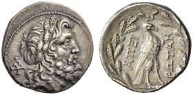 EPEIROS, Federal coinage (Epirote Republic). Circa 234/3-168 BC. Drachm (Silver, 19mm, 4.67 g 12), Dodona. Head of Zeus of Dodona to right, wearing wr...