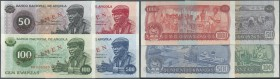 Angola: set of Specimen notes containing 50, 100, 500 and 1000 Angolares 1976 P. 10s-13s, all in condition: UNC. (4 pcs)