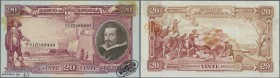"Angola: Banco de Angola 20 Angolares 1944 SPECIMEN, P.79s, oval stamp ""Specimen-Cancelled - De La Rue & Co Ltd"" at lower right, Specimen number ""N° 43..."