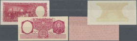 Argentina: 10 Pesos ND Proof Print P. 265p, front and back seperatly printed on banknote paper, condition: UNC. (2 pcs)