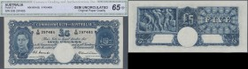 Australia: 5 Pounds ND(1939-52) P. 27d in condition: CGA graded GEM UNC 65.