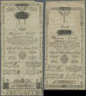Austria: Wiener Stadt-Banco Zettel, pair with 1 and 2 Gulden 1800, P.A29a, A30a, both worn condition with toned paper and several spots. Condition: F ...