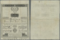 Austria: Wiener Stadt-Banco Zettel 100 Gulden 1800, P.A35a, highly rare note in nice condition with a few folds and spots, tiny holes at center. Condi...