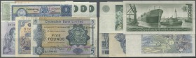 Scotland: set with 8 Banknotes containing 5 x 1 Pound 1942, 1969, 1971 and 1975 and 2 x 5 Pounds 1969, 1971 Clydesdale Bank Limited and 1 Pound 1969 B...